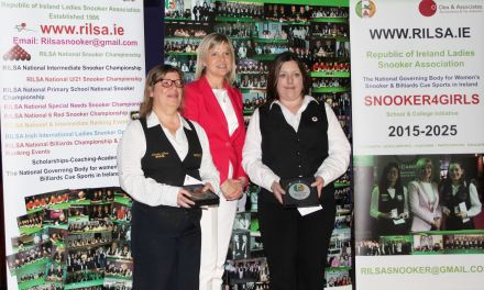 Michelle French retains her International Challenge Trophy @ D'Arcy McGees