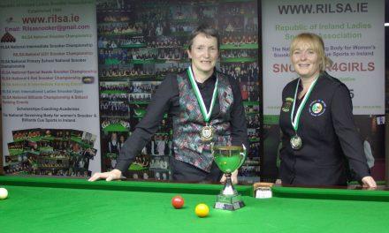Margaret O'Driscoll wins The Griffith Cup at the RILSA Academy Sharkx Newbridge