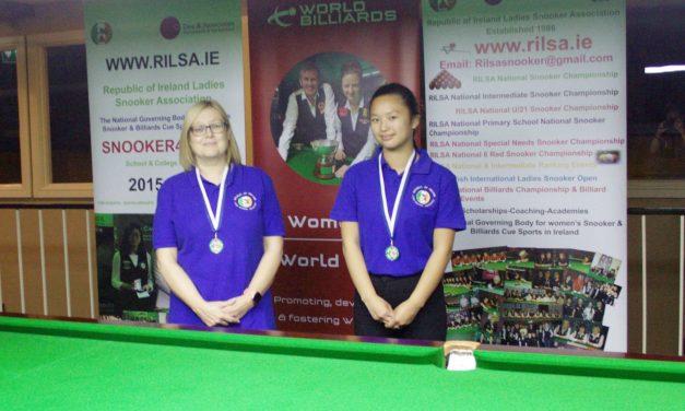 Jennifer Earle Wins her first National Intermediate Billiards Ranking@the RILSA Academy