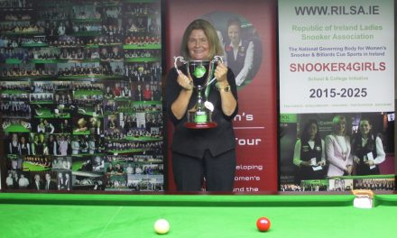 Cathy Dunne is the 2021 RILSA National Amateur Snooker Champion