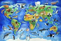 peta hewan kartun
