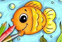 mewarnai gambar ikan