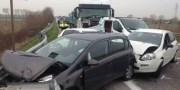 Incidente stradale da tamponamento a catena