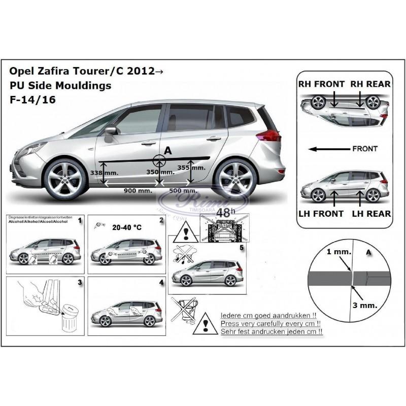 Bandouri laterale Opel Zafira C Tourer (F14/16)