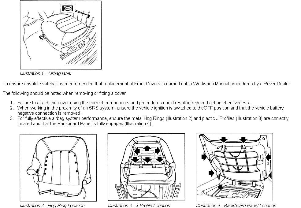 wiring diagram rover 75 seats