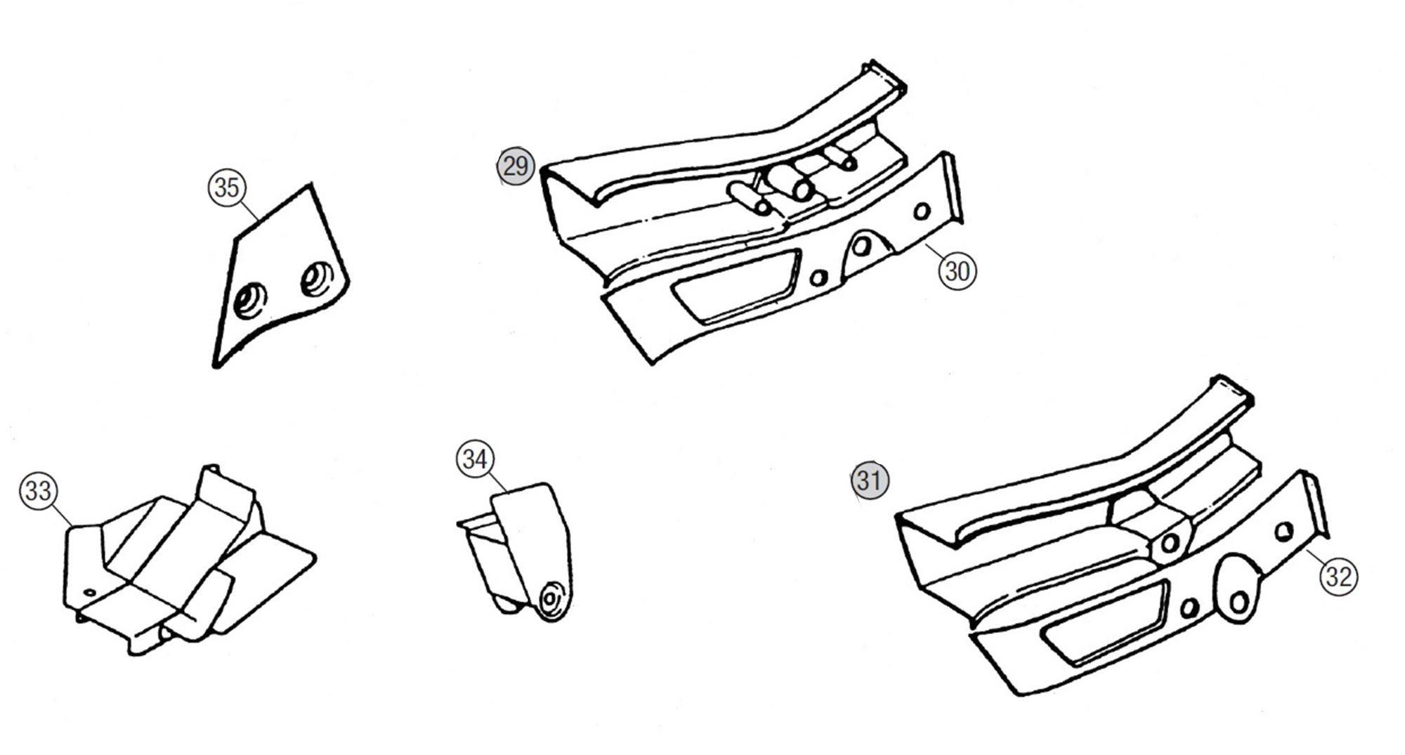 MGB Rear Sidemember & Spring Mounting Repair Panels