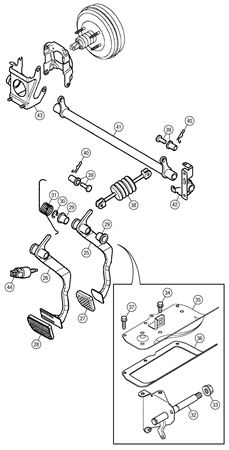 mg tf horn wiring diagram 1989 acura legend engine mgf and brake pedal rimmer bros