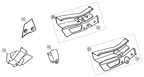 MGB Rear Sidemember & Spring Mounting Repair Panels