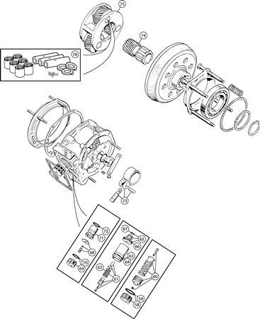 Triumph TR6 Dashpot, Relief Valve, Pump and Sunwheel