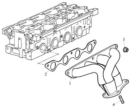 Rover 200 Coupe/Cabriolet and 400 Tourer Exhaust Manifold