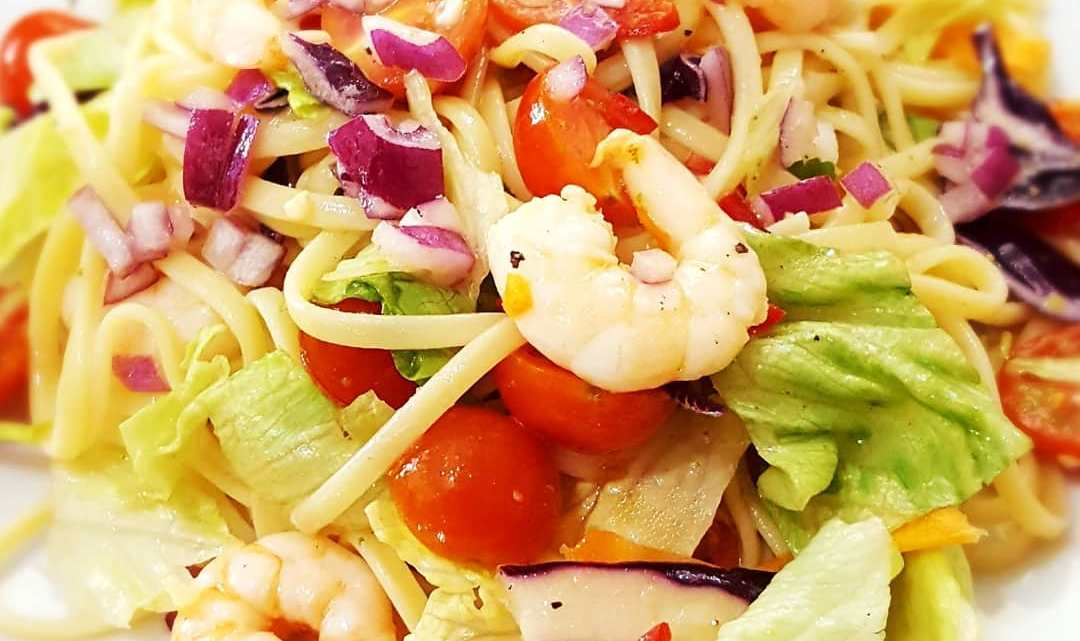 Chilli, Lime and Prawn Linguine Salad