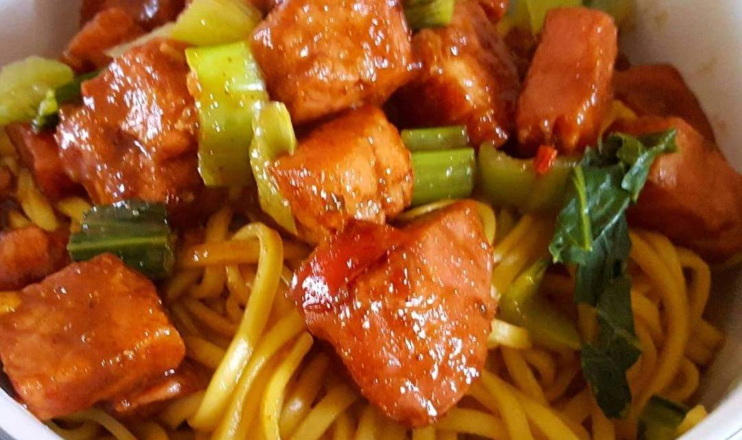 Five Spice Gammon with Noodles
