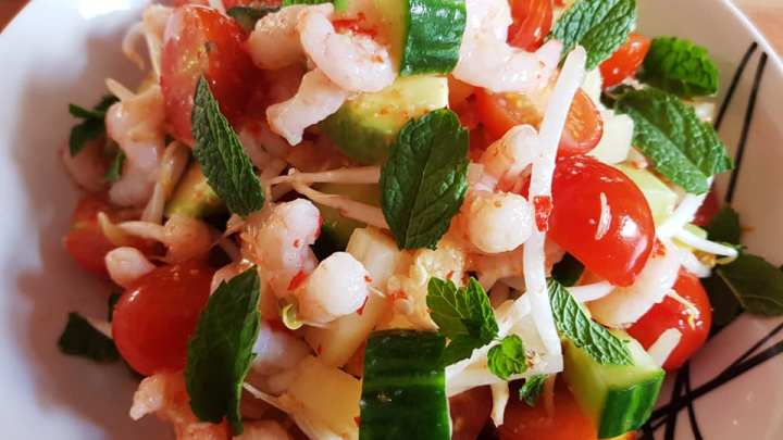Asian Chilli Prawn & Pineapple Salad