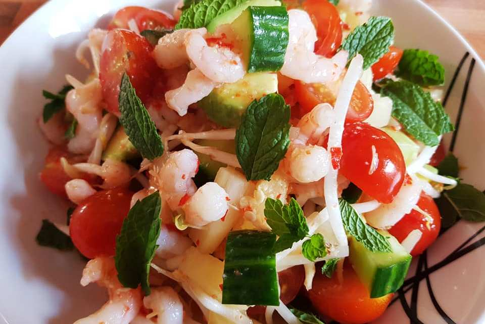 Asian Chilli Prawn & Pineapple Salad