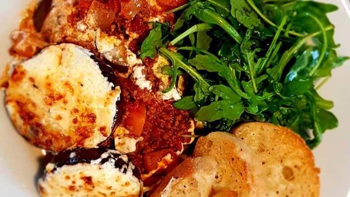 Quick (Cheat's) Lamb Moussaka with Garlic Ciabatta
