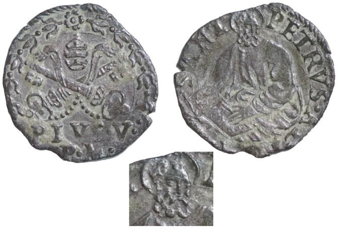 Pio V quattrino Roma