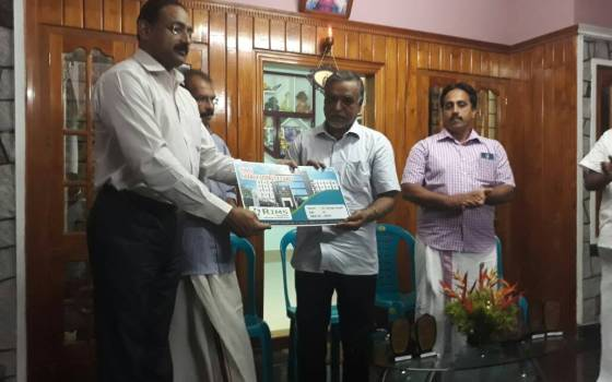 MYTHRI Residents' Association Vilakkumadom, Kottayam won the best Residents' Association award 2017.