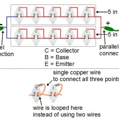Transistor Wiring Diagram 97 Honda Civic Engine Enclosed Solar Panel Made Out Of Transistors For 2n3055 Cells