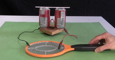 Electric Fly Swatter Zapper Racket As High Voltage Source
