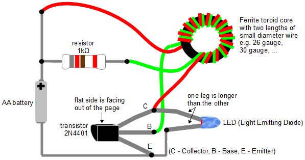 Joule Thief Getting Power From Dead Batteries