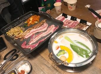 台北 萬華美食餐廳推薦 玖百號 火鍋/烤豬五花專賣店 平價好吃的百元鐵板烤肉 還有好吃的牛奶鍋