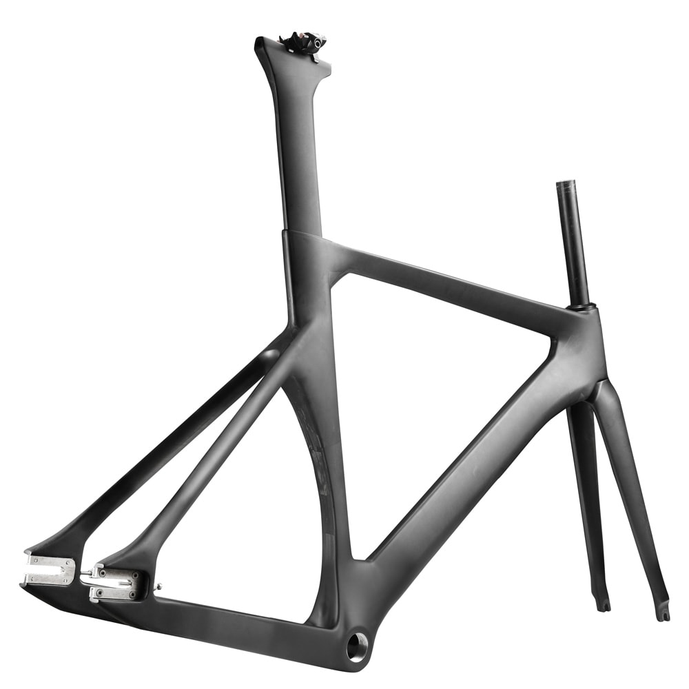 Fixie carbon bike frame seatpost aero