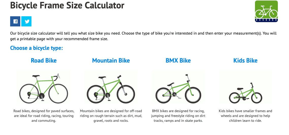 Choose a bike type