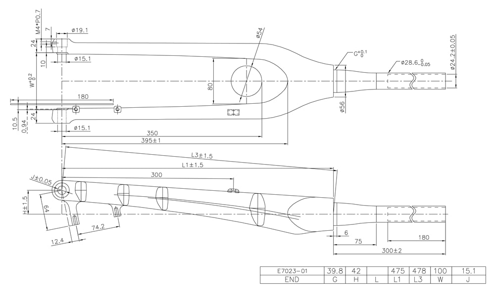 27.5er MTb fork geometry