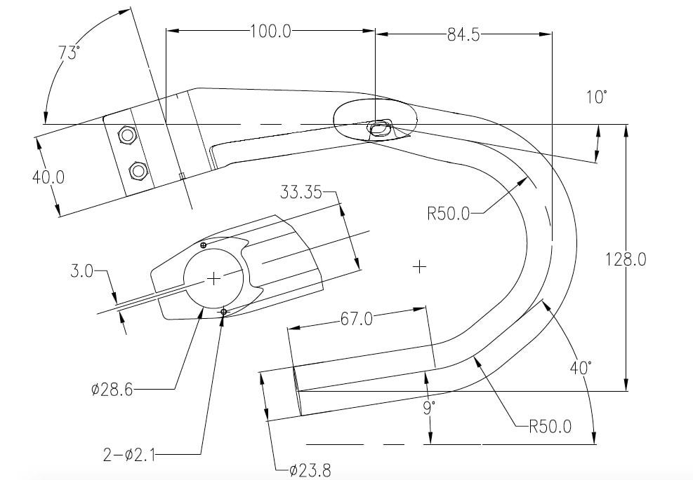 Integrated aero handlebar hbr10 geometry 02