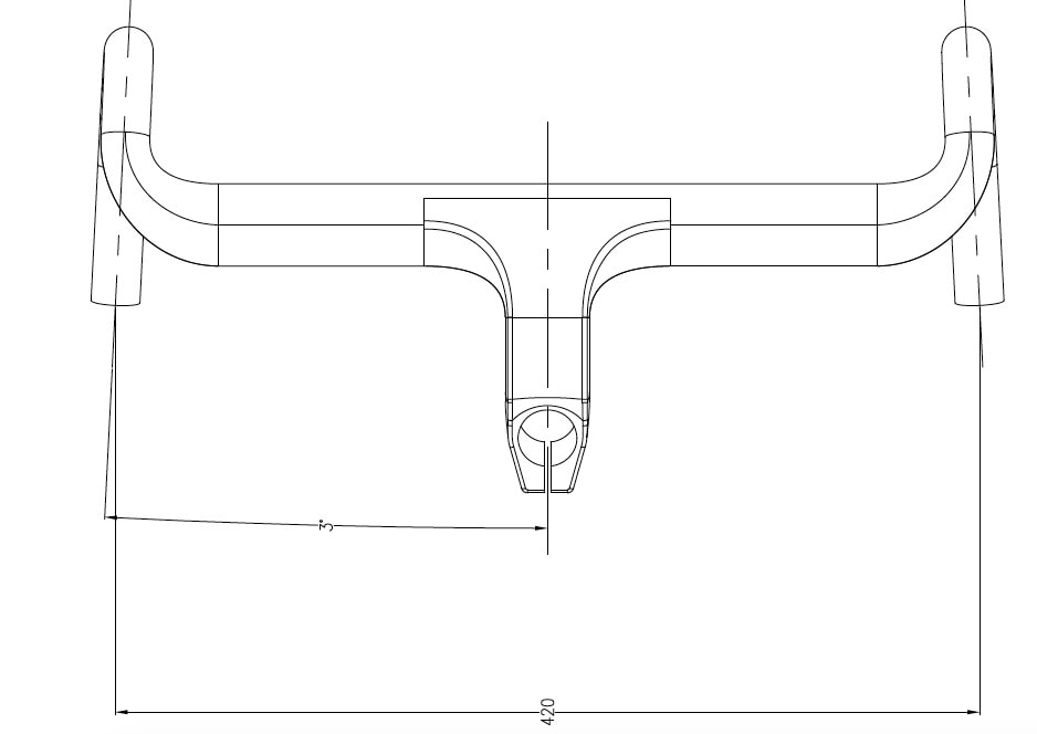 Integrated aero handlebar hbr10 geometry 01