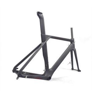 [2019 new] Aerodynamic Disc Brake Road Bike Frame set (Customized painting available)