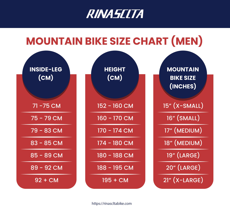 Bike Size Chart Cm