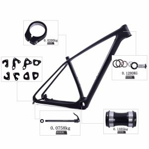 29er mtb hardtail frame free headset thru axle and hanger