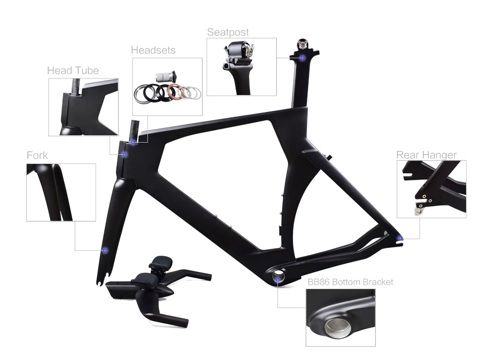 Rinasclta 2020 Triathlon(TT) carbon bike frame Accessories