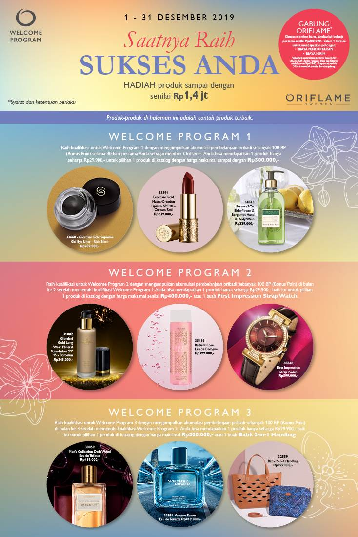 Oriflame Desember 2019 : oriflame, desember, WELCOME, PROGRAM, ORIFLAME, DESEMBER, Tiana, Oriflame