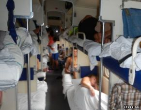 overnight train, 3-rd class car