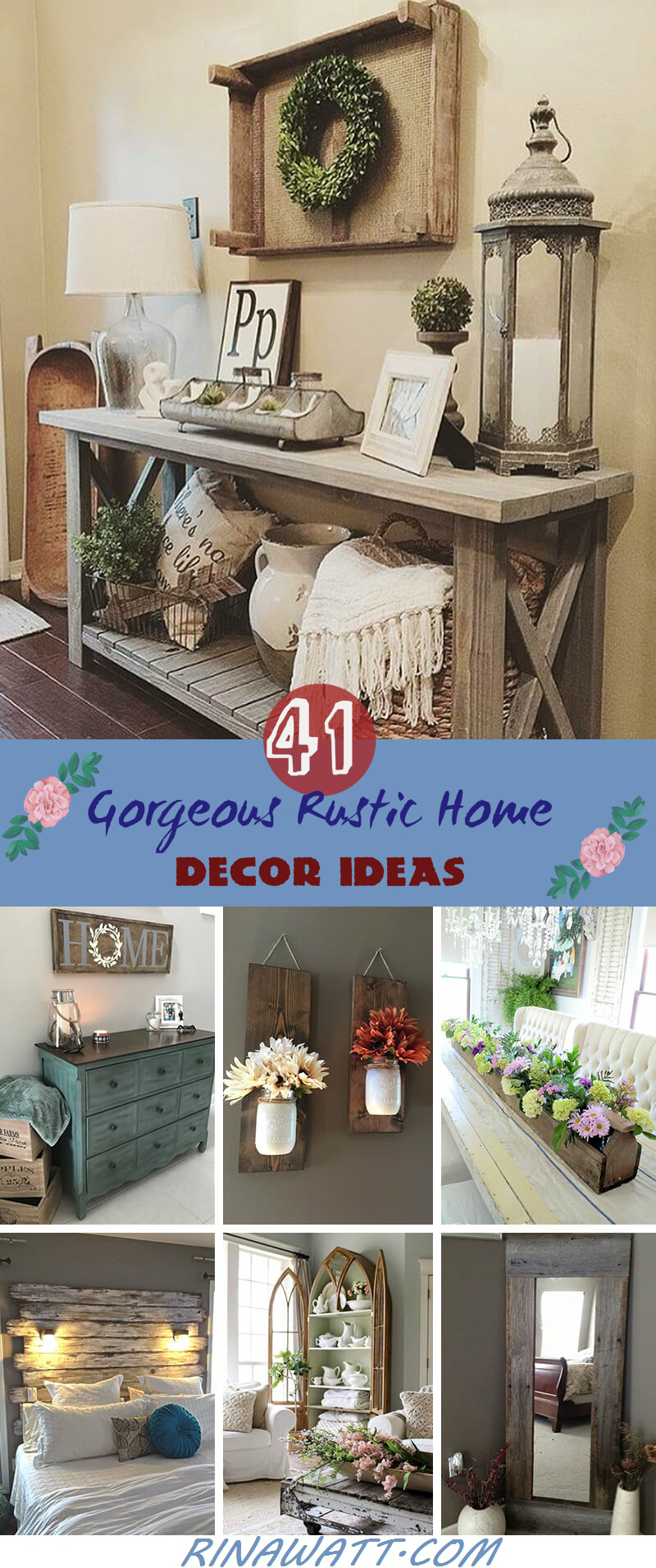 41 Gorgeous Rustic Home Decor Ideas To Make Your Home