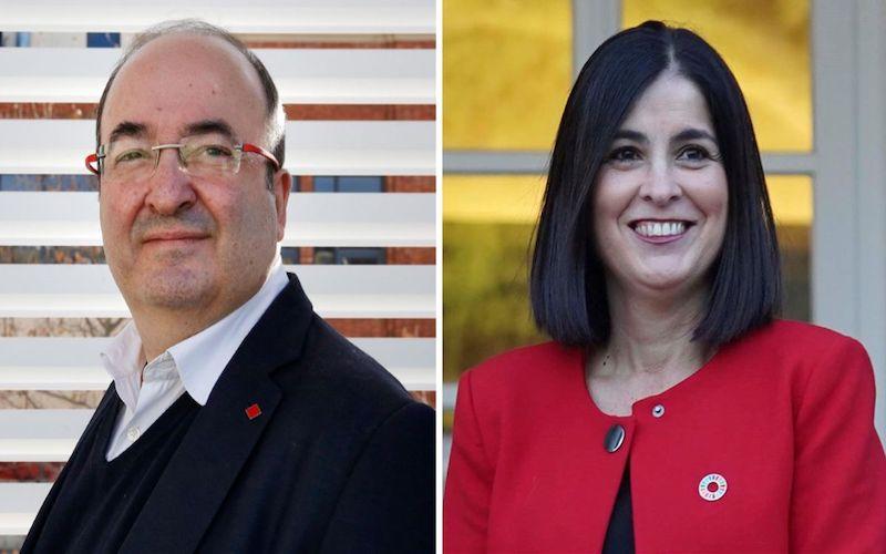Miquel Iceta y Carolina Darias
