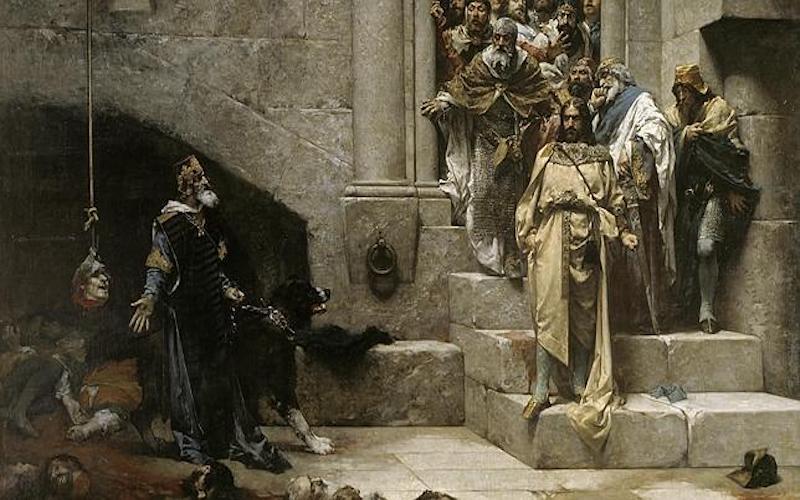 La leyenda del Rey Monje, de Casado del Alisal