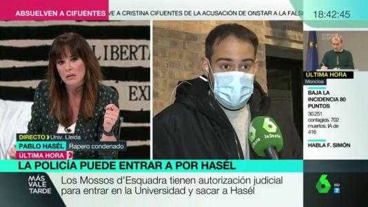 Pablo Hasél en 'La Sexta'