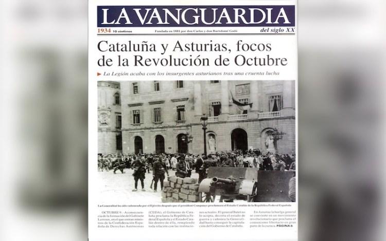 Octubre de 1934, socialistas y separatistas inician la Guerra Civil