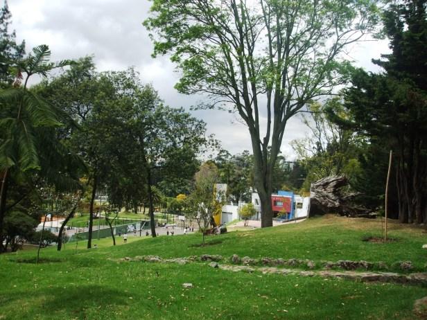 Panorámica del parque desde la parte superior en la carrera Quinta