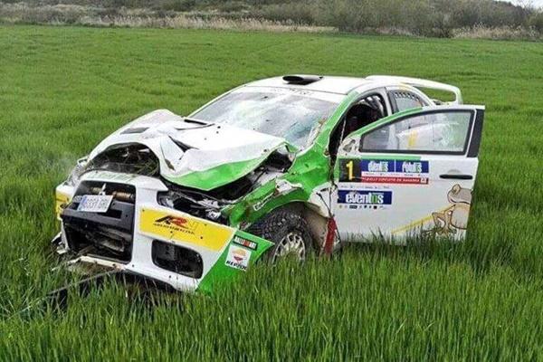 del cid mitsubishi rallye navarra 2016 accidente