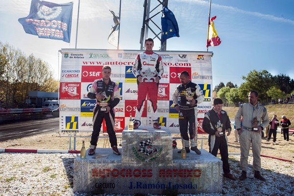 autocross arteixo anton muinos Vilariño Sanchez podio