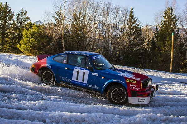 porsche nieve rallye invierno andorra 2016