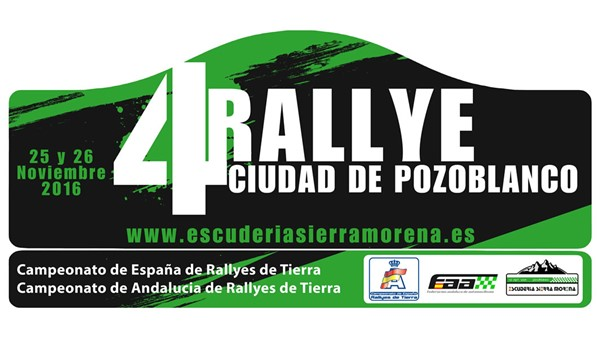 Placa Rallye Pozoblanco CERT 2016
