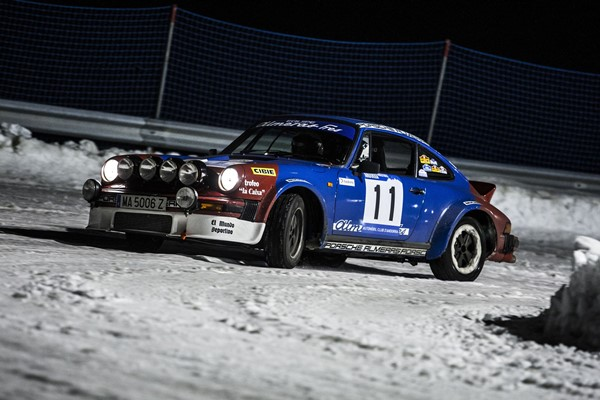 winter rallye andorra nieve porsche 911 clasico