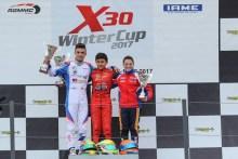 Rubén Moya le da su primer podio al Teo Martín Junior Team en la X30 Winter Cup IAME