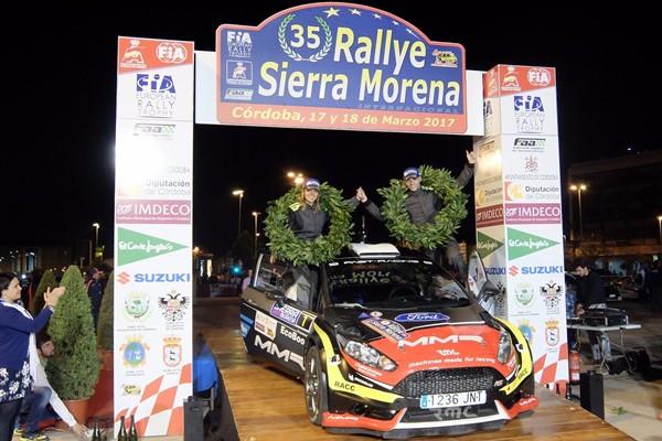 garcia liso rallye Sierra Morena podio ford fiesta r5 2017