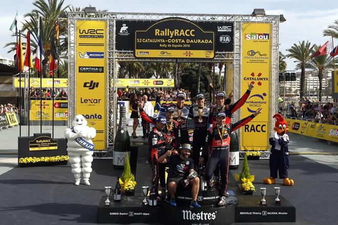 rallye RACC WRC España podio